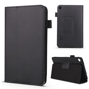 Foldable Stand PU Leather Protective Case for Huawei MediaPad T3 7.0 - Black