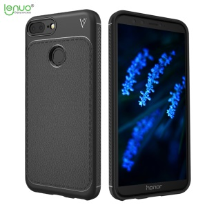 LENUO Gentlemen Series Litchi Texture Soft TPU Phone Case for Huawei Honor 9 Lite / Honor 9 Youth Edition - Black