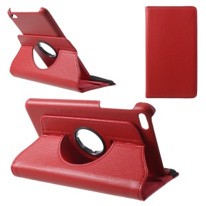 Litchi Grain 360-degree Rotary Leather Stand Case for Huawei MediaPad T1 7.0 / Honor Tablet T1 (T1-701u) - Red