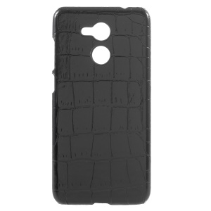 PU Leather Coated PC Mobile Casing for Huawei Honor V9 Play - Crocodile Texture
