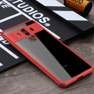IPAKY TPU Frame + Clear Acrylic Hybrid Cover for Huawei Mate 10 Pro - Red