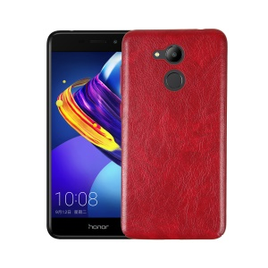 Crazy Horse Texture PU Leather Coated PC + TPU Hybrid Case for Huawei Honor V9 Play - Red