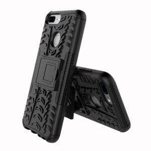 Anti-slip PC + TPU Hybrid Case with Kickstand for Huawei Honor 9 Lite / Honor 9 Youth Edition - Black