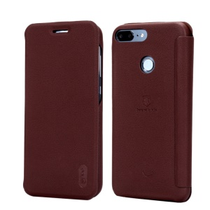 LENUO Ledream Series Flip Leather Shell Cover for Huawei Honor 9 Lite / Honor 9 Youth Edition - Brown