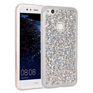 Glittery Sequins TPU Casing Case for Huawei P10 Lite - Silver