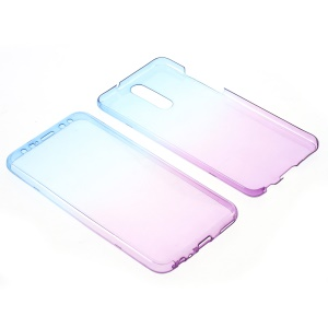 Gradient Color Touchable 2-Piece TPU Case for Huawei Mate 10 Lite/nova 2i/Maimang 6/Honor 9i (India) - Blue + Purple
