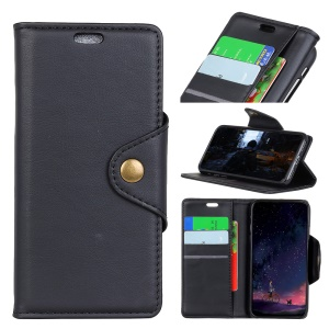 PU Leather Wallet Stand Mobile Phone Case for Huawei Honor V9 Play - Black