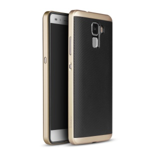 IPAKY for Huawei Honor 7 Hybrid PC Bumper + TPU Cover Case - Gold