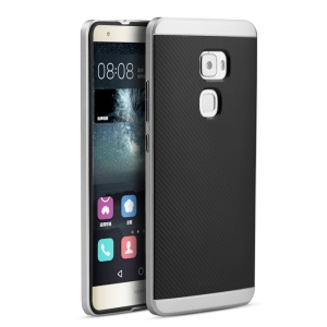 IPAKY for Huawei Mate S Hybrid 2-in-1 PC + TPU Case Cover - Silver