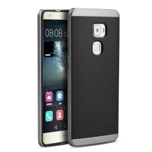 IPAKY Hybrid 2-in-1 PC + TPU Shell Cover for Huawei Mate S - Grey