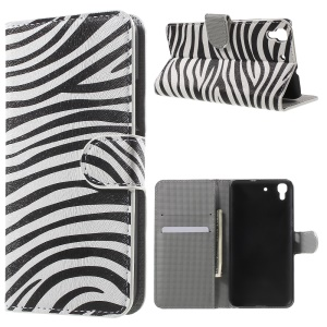 Diary Style Wallet Leather Case for Huawei Honor 4A / Y6 - Zebra Stripes