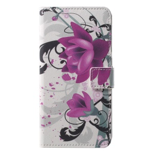 Pattern Printing Wallet Stand Leather Mobile Cover for Huawei P20 Pro - Kapok Flower