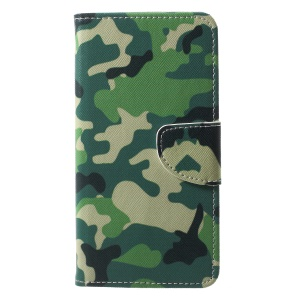 Pattern Printing Cell Phone Leather Card Holder Case for Huawei P20 Pro - Camouflage Pattern
