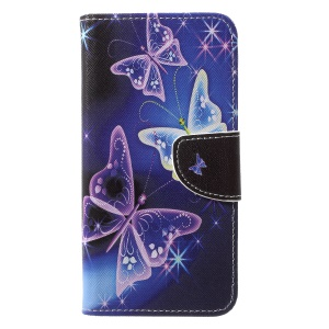 Pattern Printing Stand Leather Wallet Case for Huawei P20 Pro - Vivid Butterflies