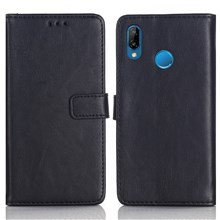 Crazy Horse Texture Retro Style Leather Wallet Stand Case for Huawei P20 Lite / Nova 3e (China) - Black