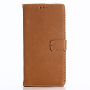 Crazy Horse Texture Retro Style Leather Wallet Stand Mobile Case for Huawei P Smart/Enjoy 7S/ nova lite 2 - Brown
