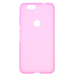 Double-sided Frosted TPU Case Cover for Huawei Nexus 6P - Rose