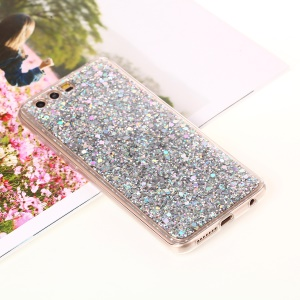Color Changing Sequins Acrylic TPU Phone Cover for Huawei Honor 9 - Silver