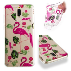 Flamingos and Leaves Pattern