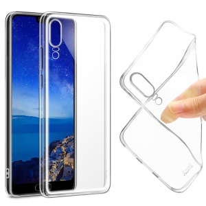 IMAK Stealth Case Clear 0.7mm TPU Back Shell + Screen Protector for Huawei P20