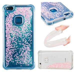 Dynamic Glitter Powder Sequins TPU Shockproof Cover for Huawei P10 Lite - Pink