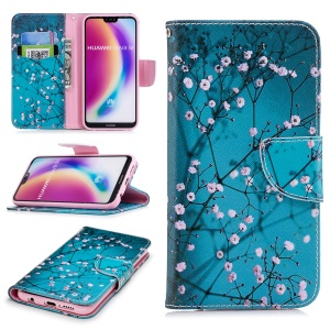 Patterned PU Leather Wallet Flip Shell for Huawei P20 Lite / Nova 3e (China) - Wintersweet