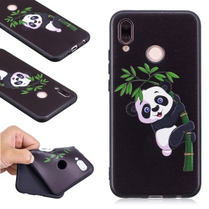 Embossment Soft TPU Back Featherweight Cellphone Shell for Huawei P20 Lite / Nova 3e (China) - Panda Climbing on Bamboo