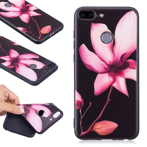 Embossment Soft TPU Phone Cover for Huawei Honor 9 Lite/9 Youth Edition - Pretty Flower