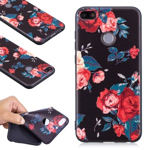 Embossment Soft TPU Mobile Phone Case for Huawei Honor 9 Lite/9 Youth Edition - Roses