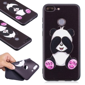 Embossment Soft TPU Protective Cell Phone Case for Huawei Honor 9 Lite/9 Youth Edition - Cute Panda