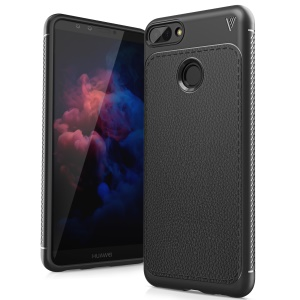 IVSO Gentry Series Leather Coated TPU Case for Huawei Y9 (2018) - Black