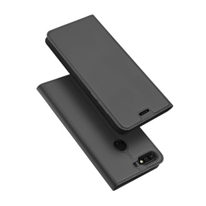DUX DUCIS Skin Pro Series Leather Stand Case for Huawei Y7 Prime (2018) / Honor 7C / Enjoy 8 - Grey