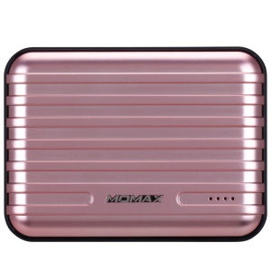 MOMAX iPower GO+ Suitcase External Power Bank 13200mAh Dual USB - Rose Gold