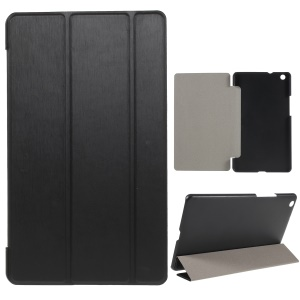 Tri-fold Stand Smart Leather Cover Accessory for Huawei MediaPad M3 8.4 - Black
