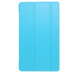 Tri-fold Stand Smart Leather Shell Accessory for Huawei MediaPad M3 8.4 - Blue