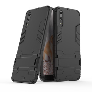 Cool Guard Kickstand Hybrid PC TPU Case for Huawei P20 - Black