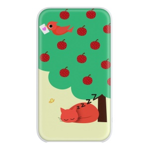 DEVIA Tiny Time Series 5000mAh Portable Power Bank for iPhone iPad Samsung etc. - Cat Sleeping under Apple Tree