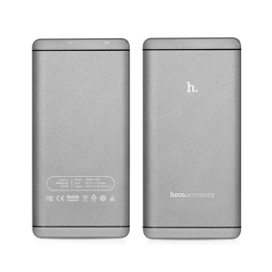HOCO UPB03 Dual USB 12000mAh Power Bank for iPhone iPad Samsung Pokemon Game - Grey