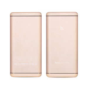 HOCO UPB03 Dual USB 12000mAh Power Bank for iPhone iPad Samsung Pokemon Game - Gold Color