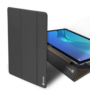 DUX DUCIS Skin Pro Series Tri-fold Stand Smart Leather Case for Huawei MediaPad M5 10/M5 10 (Pro) - Dark Grey