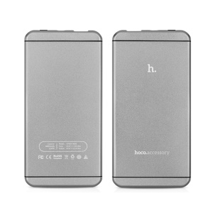 HOCO UPB03 6000mAh 2.1A Power Bank for iPhone iPad Samsung - Grey