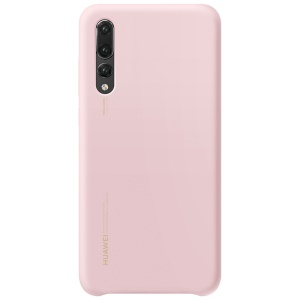HUAWEI Liquid Silicone Silky Feel Cell Phone Cover for Huawei P20 Pro - Pink