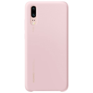 HUAWEI Liquid Silicone Silky Feel Mobile Phone Cover for Huawei P20 - Pink