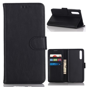 Crazy Horse Texture Retro Style Leather Wallet Stand Case for Huawei P20 Pro - Black