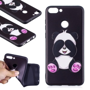 Pattern Printing Embossed TPU Shell for Huawei P Smart / Enjoy 7S - Cute Panda