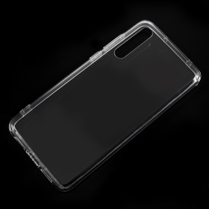 Crystal Clear Acrylic + Flexible TPU Hybrid Case Cover Shell for Huawei P20