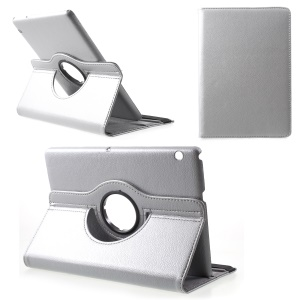 Litchi Skin Leather Case with Rotating Stand for Huawei MediaPad T3 10 - Silver