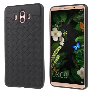 Woven Texture Soft TPU Case for Huawei Mate 10 - Black