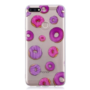 Pattern Printing IMD TPU Case Accessory for Huawei Honor 7C / Enjoy 8 /Y7 Prime (2018) - Doughnut Pattern