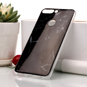 Marble Pattern IMD TPU Phone Case for Huawei Honor 7C / Enjoy 8 /Y7 Prime (2018) - Black
